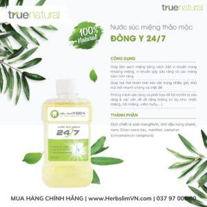công dụng của nước súc miệng thảo mộc 247 true natural phiên bản mới tháng 9 2021
