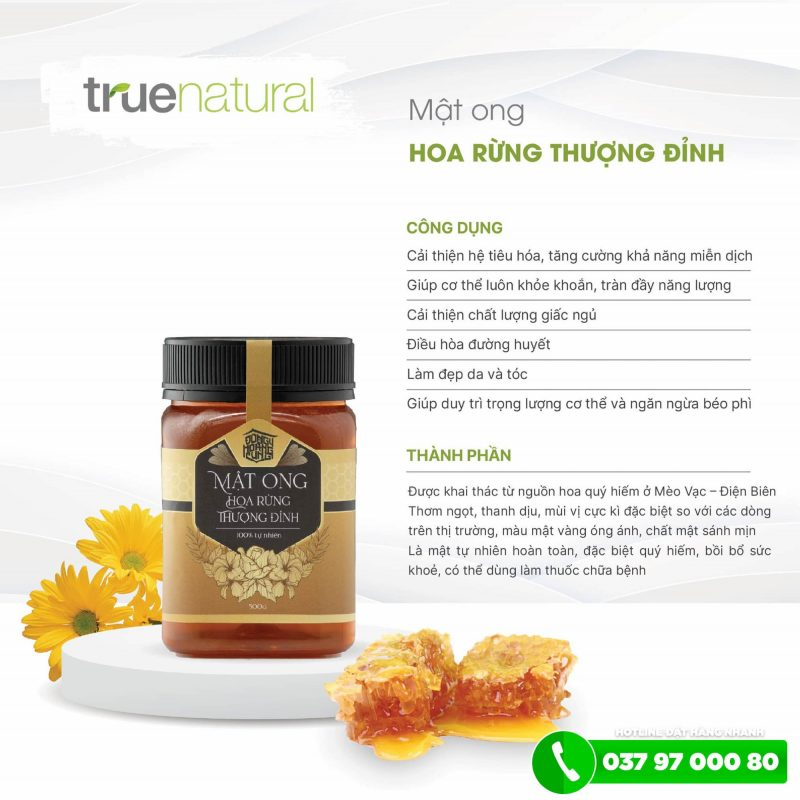 Thành phần của mật ong hoa rừng thượng đỉnh