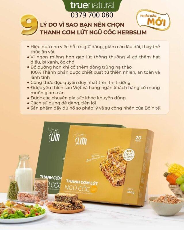 9 lý do nên chọn thanh cơm lứt ngũ cốc đông trùng hạ thảo herbslim