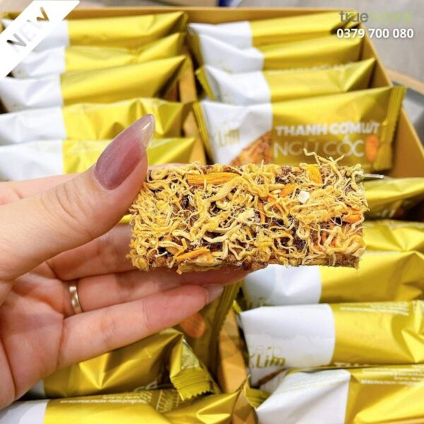Thanh cơm lứt ngũ cốc Đông Trùng Hạ Thảo Herbslim chà bông