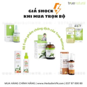 Bộ 5 sản phẩm chống Dịch của True Natural (Tiết kiệm hơn 50% so với giá mua lẻ)