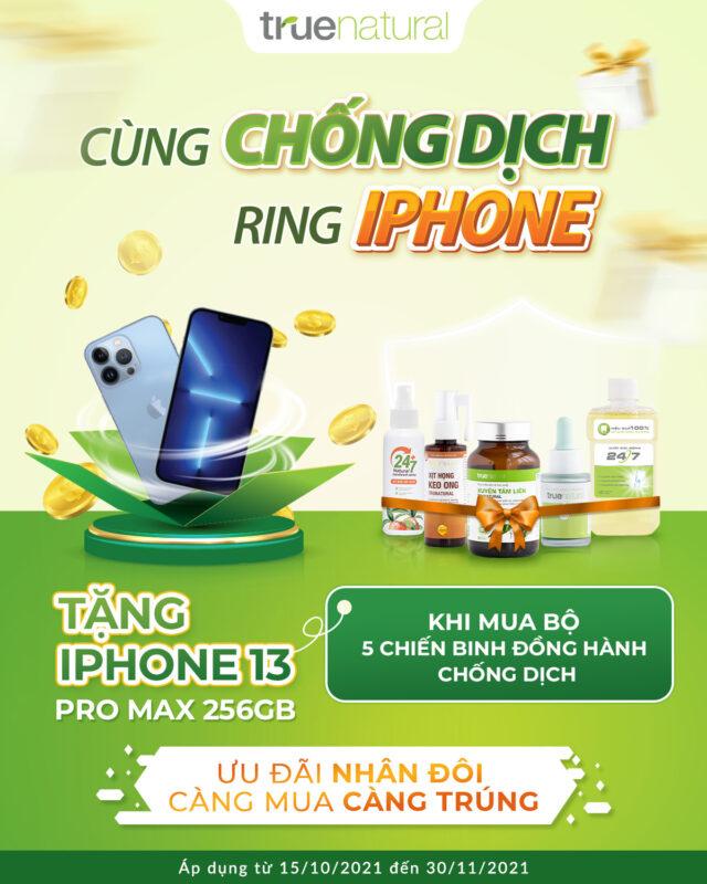 chống dịch rinh iphone 13 cùng true natural