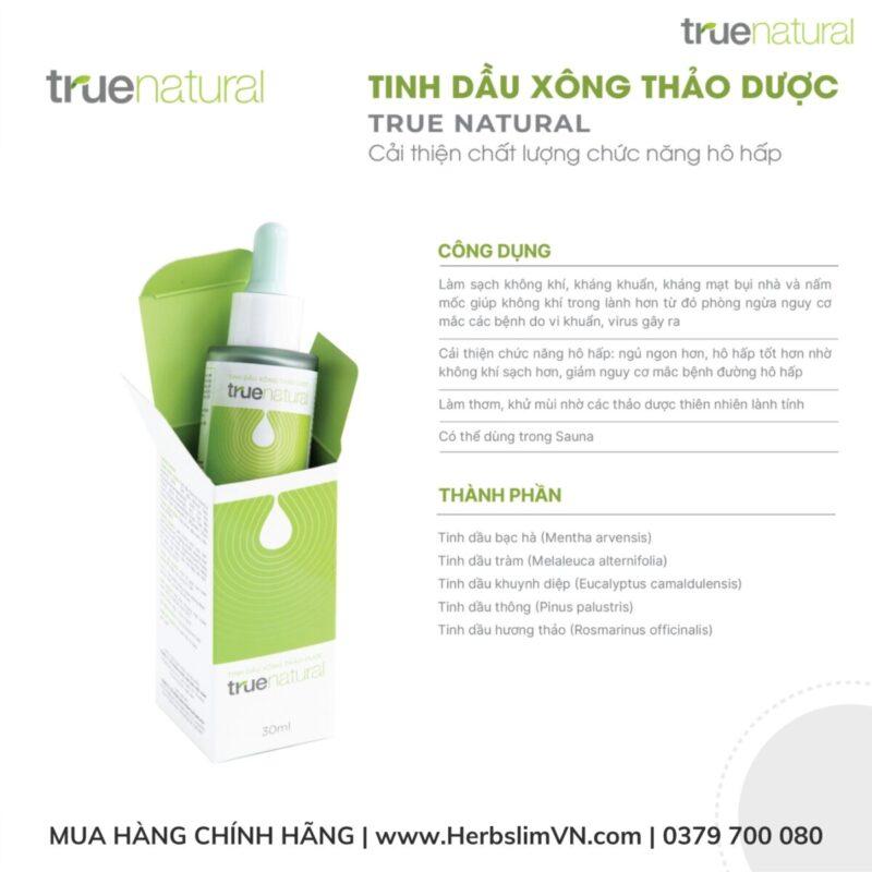 công dụng của tinh dầu xông thảo dược true natural