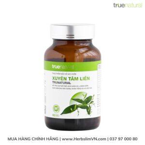 Thực phẩm bảo vệ sức khỏe Xuyên Tâm Liên hộp 60 viên True Natural