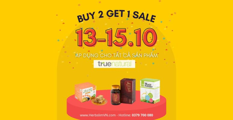 Buy 2 Get 1 sale true natural (1200 x 620 px)